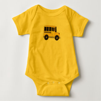Big Yellow School Bus Education Teacher Bus Driver Baby Bodysuit
