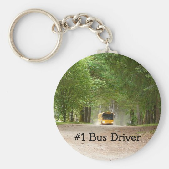 Big Yellow School Bus Key Ring