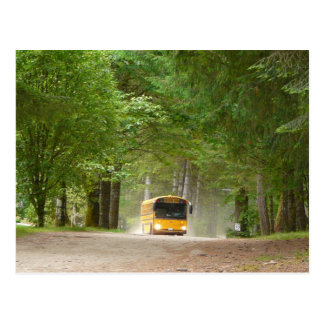 Big Yellow School Bus Postcard