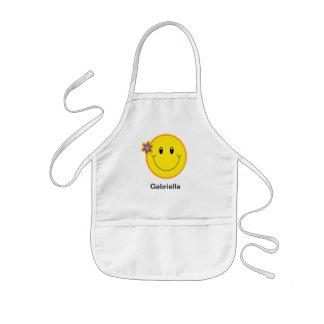 Big Yellow Smiley Face Kids Apron