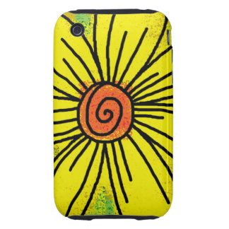 Big Yellow Sunflower Tough iPhone 3 Cover