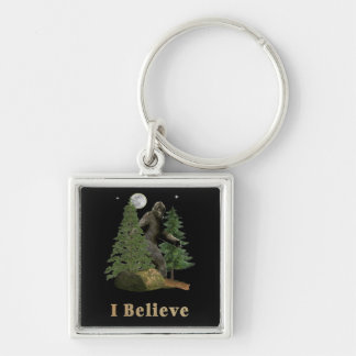Bigfoot art key ring