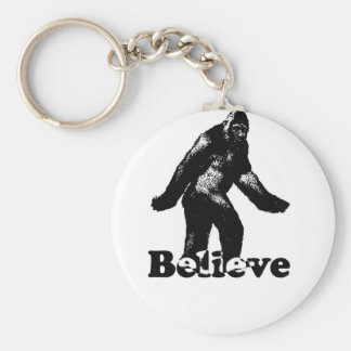Bigfoot Believe Basic Round Button Key Ring