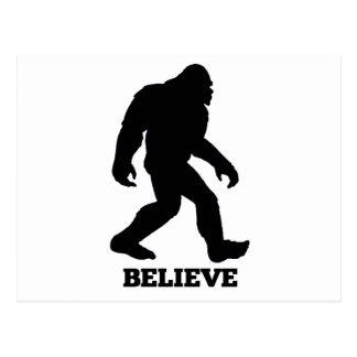 Bigfoot BELIEVE Sasquatch Postcard