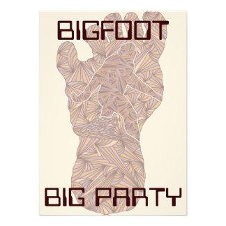 Bigfoot Big Party Sasquatch Yeti Graduation Party Personalized Announcement