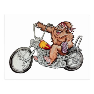 Bigfoot Biker Postcard