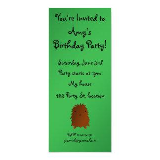 "Bigfoot birthday invitation 4"" x 9.25"" invitation card"