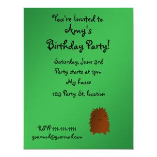 "Bigfoot birthday invitation 4.25"" x 5.5"" invitation card"