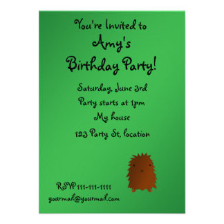 Bigfoot birthday invitation