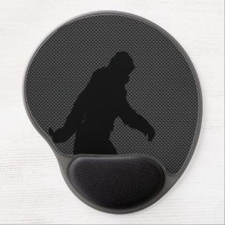 Bigfoot Black Silhouette Carbon Fiber Style Gel Mouse Mat