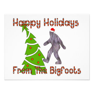 Bigfoot Christmas Custom Invitations