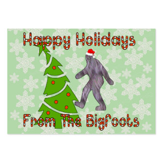 Bigfoot Christmas Pack Of Chubby Business Cards