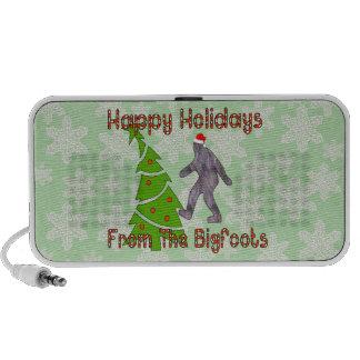 Bigfoot Christmas Laptop Speaker