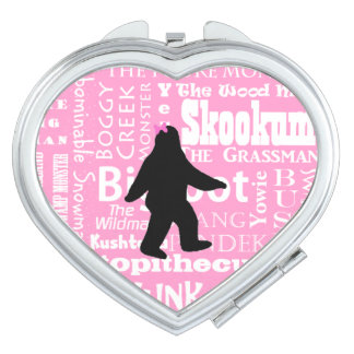 Bigfoot Compact Mirror in Pink