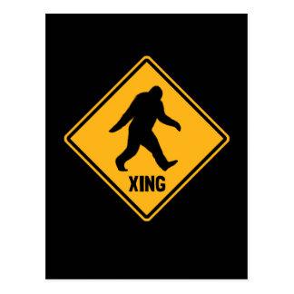 Bigfoot Crossing Sign Postcard