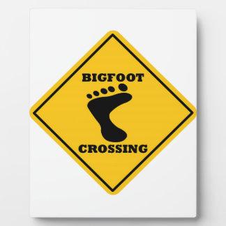Bigfoot Crossing Street Sign Plaque