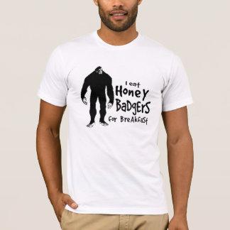Bigfoot eats Honey Badgers for Breakfast T-Shirt