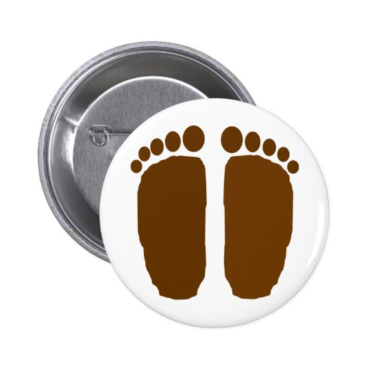 Bigfoot Feet! 6 Cm Round Badge