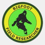 Bigfoot Field Researcher Classic Round Sticker