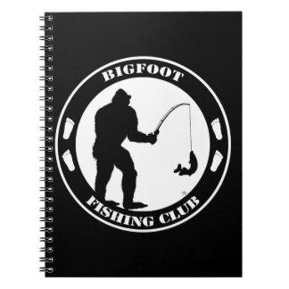Bigfoot Fishing Club Spiral Notebook