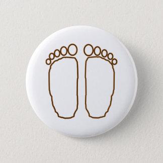 bigfoot foot prints transparent 6 cm round badge