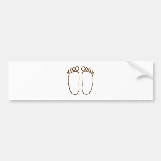 bigfoot foot prints transparent bumper sticker
