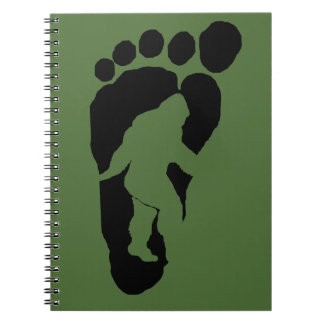 Bigfoot footprint notebook