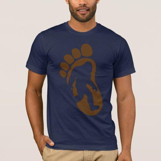 Bigfoot Footprint Silhouette Sasquatch T-shirt