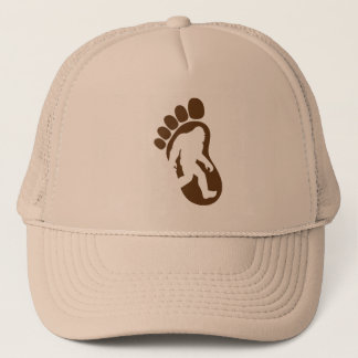 Bigfoot Footprint Silhouette Sasquatch Trucker Hat