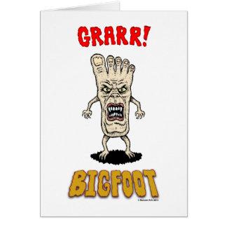 Bigfoot Greeting Card