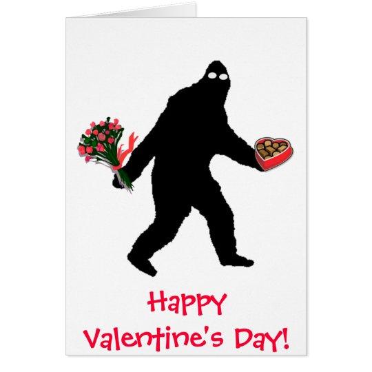Bigfoot Happy Valentine's Day! Card