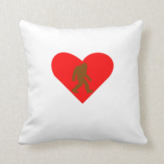 Bigfoot Heart Cushion