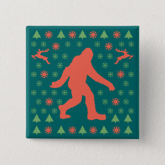 Bigfoot Holiday Sweater Tees 15 Cm Square Badge