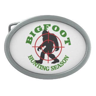 Bigfoot Hunting Season Oval Belt Buckle