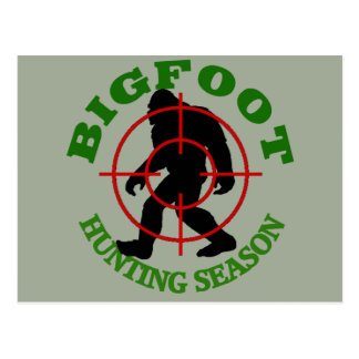Bigfoot Hunting Season Postcard