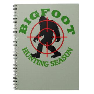 Bigfoot Hunting Season Spiral Notebooks