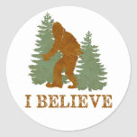 Bigfoot I believe Classic Round Sticker