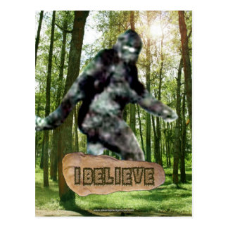Bigfoot I Believe Postcard