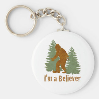 Bigfoot - I'm a Believer Basic Round Button Key Ring
