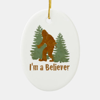 Bigfoot - I'm a Believer Christmas Ornament