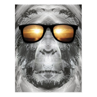 Bigfoot In Shades Postcard