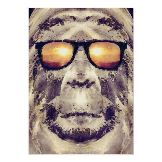 Bigfoot In Shades Poster