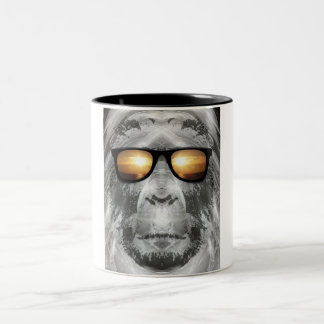 Bigfoot In Shades Two-Tone Coffee Mug