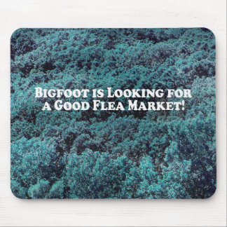 Bigfoot is Looking For a Good Flea Market - Basic Mouse Pad