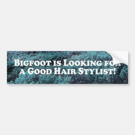 Bigfoot is Looking For a Good Hair Stylist - Basic Bumper Sticker