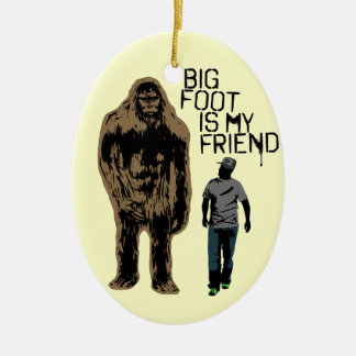 Bigfoot Is My Friend Christmas Ornament