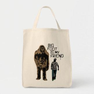 Bigfoot Is My Friend Grocery Tote Bag