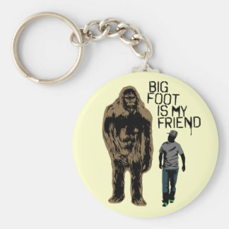 Bigfoot Is My Friend Key Ring