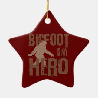 Bigfoot is my Hero Ceramic Star Decoration