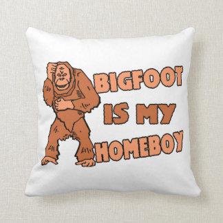 Bigfoot Is My Homeboy Cushion